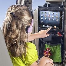 Villexun Organiseur pour siège arrière de voiture support iPad Sac à suspendre, indispensable de voyage Road Trip Accessoires et enfants de jouets