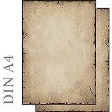 Papel de carta diseño antiguo ambos lados (sin Personalización) 100hojas, DIN A4, 90g/m² 51203