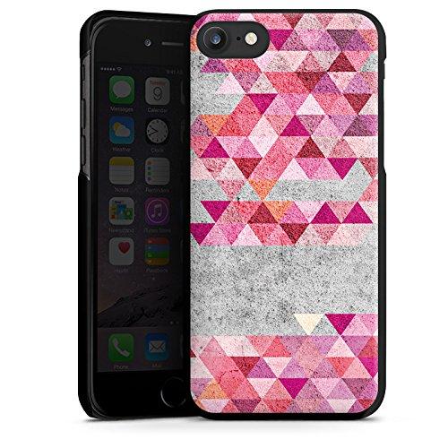 Apple iPhone X Silikon Hülle Case Schutzhülle Dreiecke Hipster Muster Hard Case schwarz