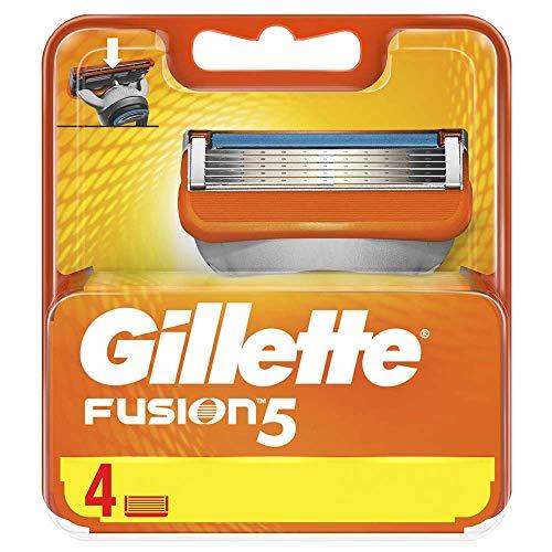 Gillette Fusion Manuale Lamette Ricambi, Set di 4