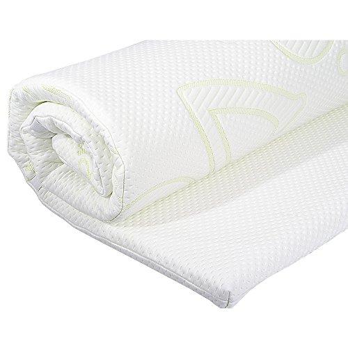 Coprimaterasso, copertura materasso ortopedico in memory foam i coprimaterasso traspirante con aloe vera - 200 x 120 x 4 cm