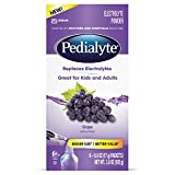 Pedialyte Large Powder Packs, Grape, 3.6 OZ, 6 Count