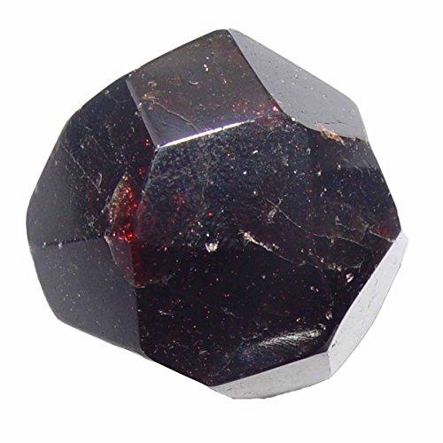 Granat ugs. Karfunkelstein facettierter polierter Trommelstein Handschmeichler ca. 25 - 30 mm Durchmesser.(3747) - Granat Stein