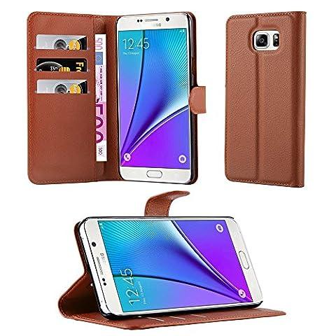 Cadorabo - Book Style Hülle für Samsung Galaxy NOTE 5 - Case Cover Schutzhülle Etui Tasche mit Standfunktion und Kartenfach in