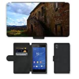 GoGoMobile PU Leather Case coque Housse Smartphone Flip bag cover Protection//M00421674 Edifici Italia fattoria abandonada//Sony Xperia Z3 D6603 D6643 D6653 D6616