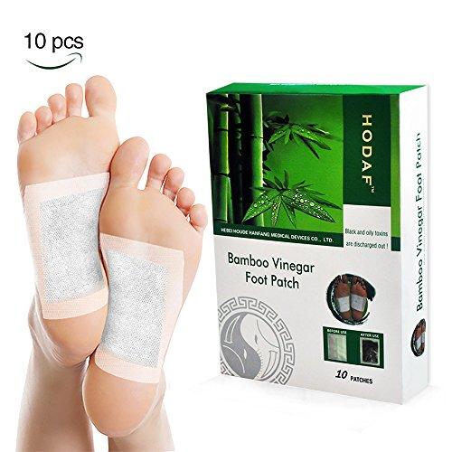 Detox Fußpflaster, MICROBUY Bambus Detox Vitalpflaster Foot Pad Pflaster Entgiften mit Turmalin, 10 Foot Pads mit Bambuspflaster -