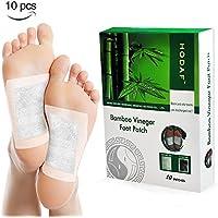 Detox Fußpflaster, MICROBUY Bambus Detox Vitalpflaster Foot Pad Pflaster Entgiften mit Turmalin, 10 Foot Pads... preisvergleich bei billige-tabletten.eu