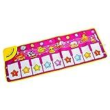 Kinder Piano Keyboard, Vicoki Musikmatte Kind Klavier Spielen Baby Matte Spielzeug mit 6 Soundeffekten 100cm