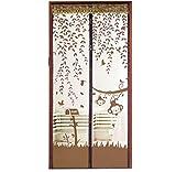 Fliegengitter Tür Moskitonetz Tür , Covermason Insektenschutz Magnet Vorhang Fliegenvorhang für Balkontür Wohnzimmer, 90cm*210cm