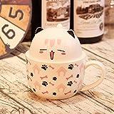 gzw Paar Rosa Becher Mit Deckel Löffel Tasse Keramik Student Kaffeetasse rosa