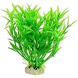 """SODIAL(R) 5.5 """"Altura Decoracion planta acuatica de paisajismo plastico verde para pecera acuario"""