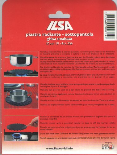 /Ø 18 cm Ilsa: Flamella Radiant Plate in Enamelled Cast-Iron Art 7 in 256