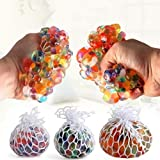 Mesh Squishy Ball with Lights Pressure Relieve Ball Anti-Stress Anti Anxiety Toy