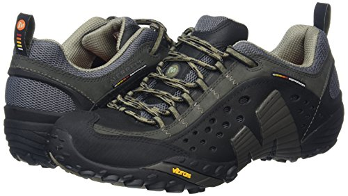 Merrell Intercept, Men's Lace-Up Outdoor Cross Trainer Shoes – Smooth Black, 8 UK