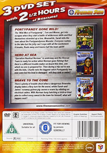 Image of Fireman Sam: Fire Crew Pack (Pontypandy Gone Wild/Hero At Sea/Brave To The Core) [DVD]