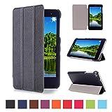 Funda Huawei MediaPad T1 7.0 -DETUOSI MediaPad T1 7.0 Pulgadas Ultra Slim Ligera Funda de PU Cuero,Smart Book Cover Case Carcasa con Soporte Función para Huawei MediaPad T1 7.0' Tablet