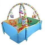 Seciie Palestrina Neonato Tappeto Bambini Tappetino da Gioco Multifunzione 5-in-1 Baby Gym per Neonati e Bambini