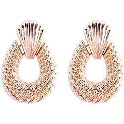 Yying Pendientes de piña de la vendimia personalidad creativa Pendientes colgantes de oro pendientes femeninos europeos accesorios