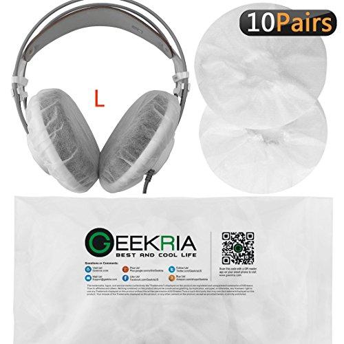 Große dehnbar Kopfhörer Ohrpolster Covers/Einweg Sanitär Hörmuscheln Passform AKG K701, Q701, Sennheiser HD900, HD800, HD650, Beyerdynamics DT880, Kopfhörer für DT99020PCS (10Paar) weiß