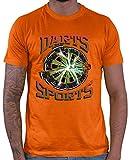 HARIZ  Herren T-Shirt Darts Sports Blitz Scheibe Dart Sprüche Männer Sport Fun Trikot Plus Geschenkkarten Orange XXL