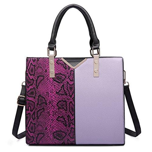 Plover Donne pelle sintetica borsetta Borse Messenger Borse cross-body borse da festa purple