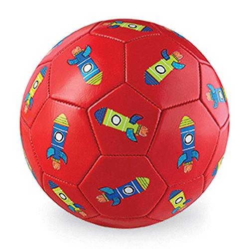 Crocodile Creek Fußball für Kinder mit Raketen - Motiv, rot ( 17,8 cm.)