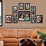 #9: Ajanta Royal Classic set of 11 Individual Photo Frames (6-4x4, 2-4x6, 2-5x7 & 1-8x10) : A-73A (Black)