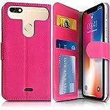KARYLAX Etui Portefeuille Rose (Ref.4-C) pour Smartphone Hisense F17 Pro