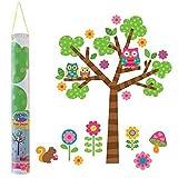 Hochwertiger Wandtattoo Tattoo Wand Tattoo Baum Eulen Eule Owl künstlerisch mit außergewöhnlichem Design macht die Wand zu einen echten Blickfang