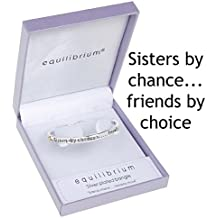 """Equilibrium - Pulsera, diseño con texto """"Sisters by chance... friends by choice"""""""