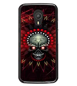 Skull with Red eyes 2D Hard Polycarbonate Designer Back Case Cover for Meizu M1 Note
