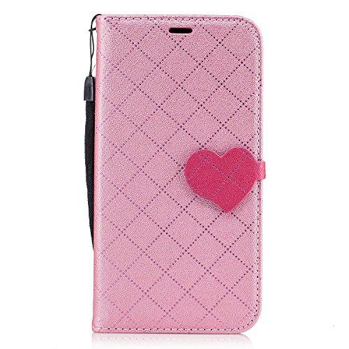 Qiaogle Téléphone Coque - PU Cuir rabat Wallet Housse Case pour Apple iPhone 6 Plus / iPhone 6S Plus (5.5 Pouce) - BF88 / Blanc BF87 / Pink