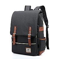 EssVita Unisex Casual Vintage Backpack College Students Backpacks Laptop Computer Bags for School Travel Daypack Rucksack