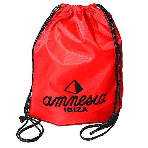 Amnesia Ibiza: Sacca Porta con Logo Classico - Rosso, Taglia Unica