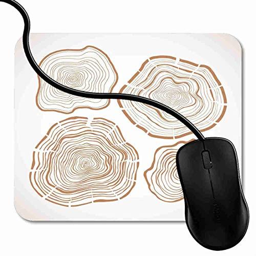 Mauspad Karten-Baumringe sägen geschnittene Stamm-Linie hölzern Rutschfeste Gummi Basis Mouse pad, Gaming mauspad für Laptop, Computer 1X1165 -