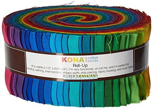 Robert Kaufman Kona Cotton (2-1/2in Strips Roll Up Kona Cotton Solids Classic Palette 41Pcs by Robert Kaufman)
