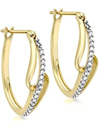 Carissima Gold Damen-Ohrringe 375 9 Karat (375) Gelbgold Rundschliff Diamant