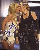 Britney Spears & Madonna Signiert Autogramme 25cm x 20cm Foto