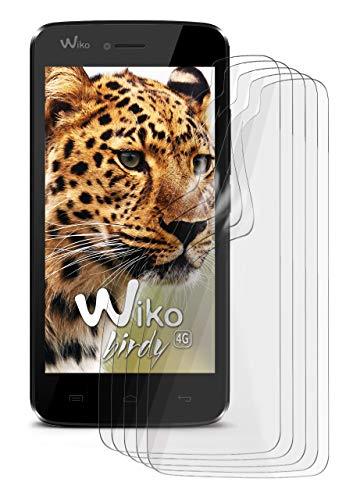 5X Wiko Birdy | Schutzfolie Matt Bildschirm Schutz [Anti-Reflex] Screen Protector Fingerprint Handy-Folie Matte Bildschirmschutz-Folie für Wiko Birdy/Wiko Birdy 4G Bildschirmfolie