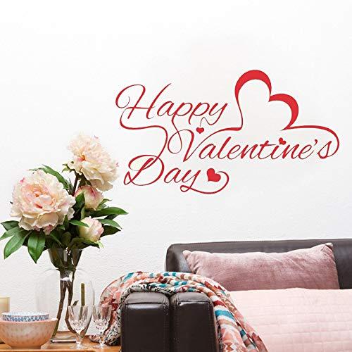 zhuziji Yoyoyu Zitat Wandaufkleber Happy Valentinstag Wandaufkleber Schaufenster Decor Home Decel Muster Vinyl r Mura 75x42 cm