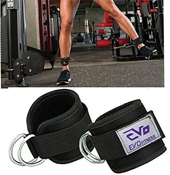 New Ankle Strap Leg Gym Cable Attachment Pulley Machine Weight Lifting D Ring