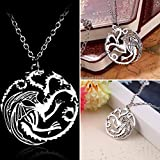 Game of Thrones Dragon Chain Necklace 56cm - A Song of Ice and Fire Targaryen Daenerys by PARADIZE