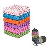 """SIMYJOY 72""""x 24"""" manta accesorio antideslizante toalla de Yoga/Pilates Mat con bolsa de transporte gratuita,verde"""
