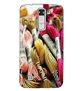 Fuson Designer Back Case Cover for LG K10 :: LG K10 Dual SIM :: LG K10 K420N K430DS K430DSF K430DSY (Woolen Thrades Theme)