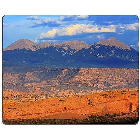 luxlady Alfombrillas de goma natural imagen ID 31284220la Salle Montañas Amarillo Rock Canyon Parque Nacional de los Arcos Moab Utah Estados Unidos Southwest