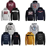JACK & JONES Kapuzenpullover 3er Pack Mix Hoodie Sweat Shirt Herren Baumwollmix S M L XL XXL (L, 3er Mix Pack)