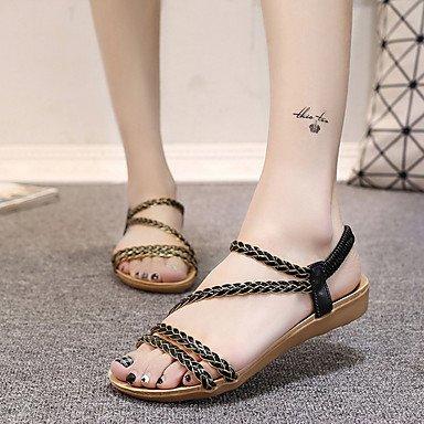 RUGAI-UE Mode d'été occasionnels Chaussures Femmes Sandales talons PU confort,rouge,US9 / EU40 / UK7 / CN41 Beige