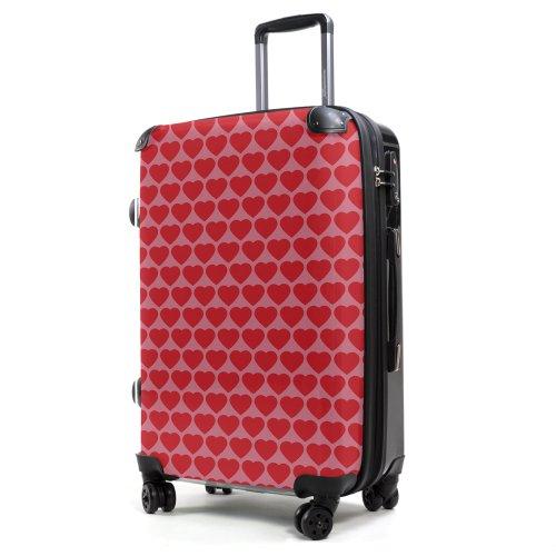 """HAUPTSTADTKOFFER® · Hartschalenkoffer Koffer Trolley Reisekoffer Hartschale · Serie """"Style"""" (Eule Strand Sonnenschirm) Herzen"""