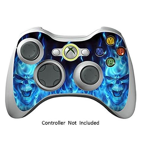 Manette Xbox 360 Peaux Jeux Xbox 360 Vinyle Autocollants Xbox 360 Décalcomanies - Blue Daemon