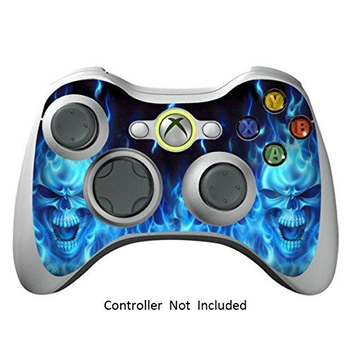 GameXcel Xbox 360 Controlador de la piel - Vinilo Pegatina protectora para X360 delgado sin hilos del juego - X3 controlador Decal - Blue Daemon [ Controlador no está incluido]